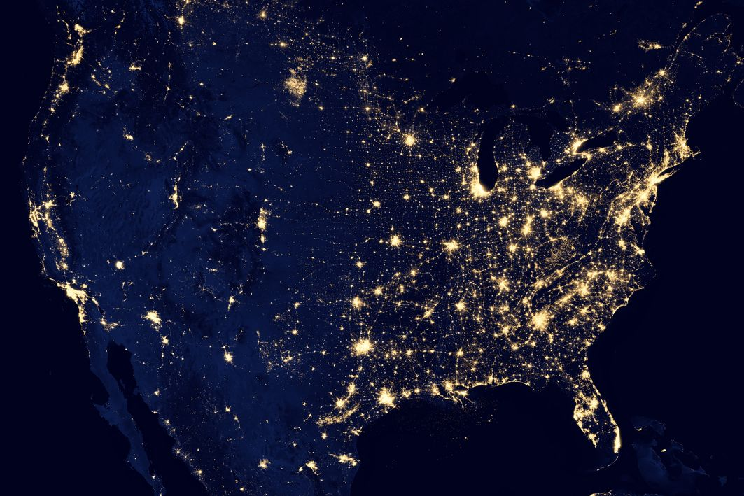 nasa-light-notrth-america-by-night